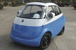 The Microlino loads two passengers through a front door and has an electric range of about 62 miles.