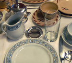 Dinnerware is a popular starting point for antique collectors.