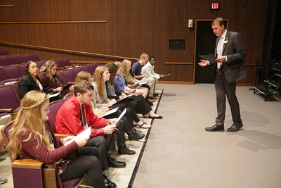 High school students from 25 schools recently attended the Youth Leadership Summit organized by Rep. Adam Kinzinger.