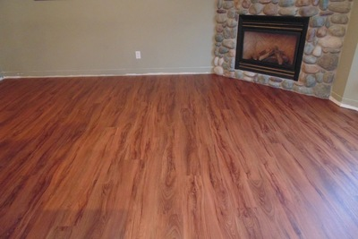 New vinyl products can effectively emulate hardwood floors.