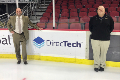 Dan Tooker DirecTech Director of Sales and Eric Grundfast, VP of Sales for Iowa Wild.