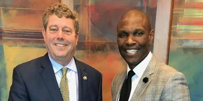 Tod J. Kaufman with Robert Morris University President Christopher B. Howard