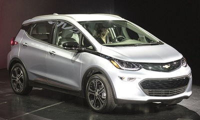 The Chevrolet Bolt more than doubles the electric range of the Nissan Leaf. Production begins this fall.