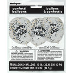 12-Inch Happy New Year Confetti Balloons