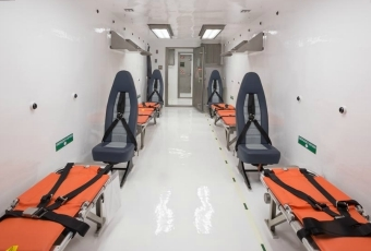 This is the interior of newly unveiled medevac biocontainment units.