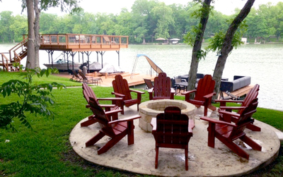 Adirondack chairs have been popular for decks and outdoor spaces since the early 20th century.