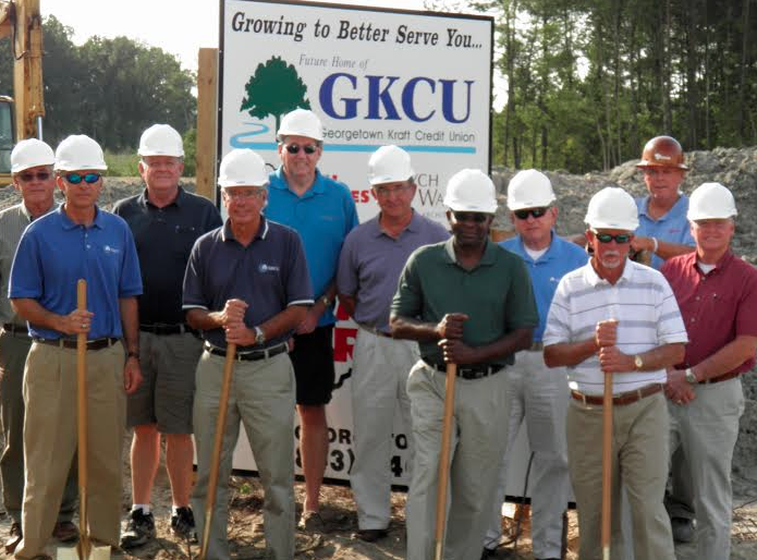 Georgetown-based construction company Coastal Structures began construction on the new headquarters for Georgetown Kraft Credit Union on Aug. 14.