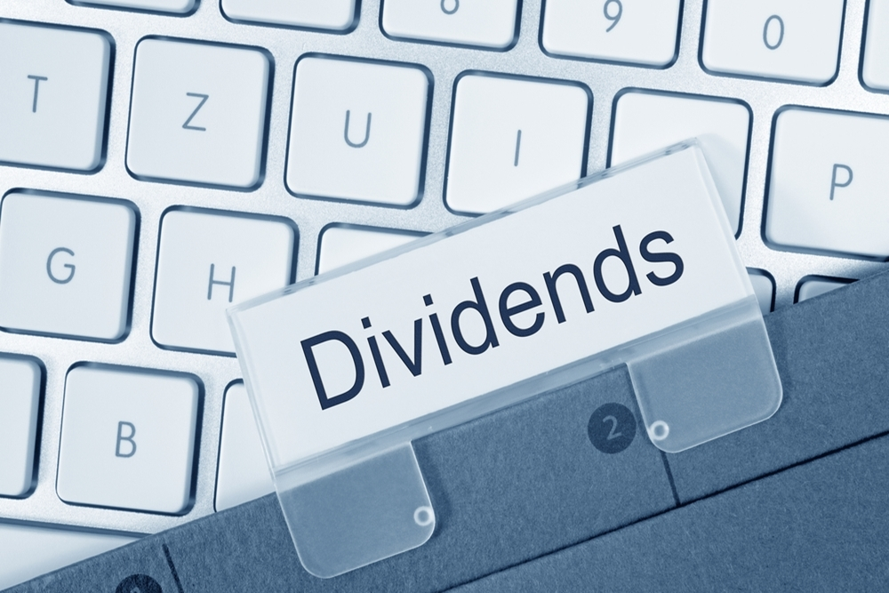The dividends were payable June 15 to common shareholders of record at the close of business last May 31.