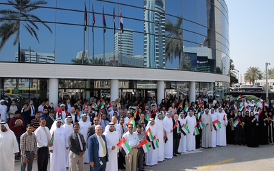 Dubai Chamber celebrates 'Flag Day,' an initiative started by UAE vice president