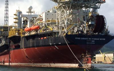The Cidade de Itaguaí can store 1.6 million barrels of oil.