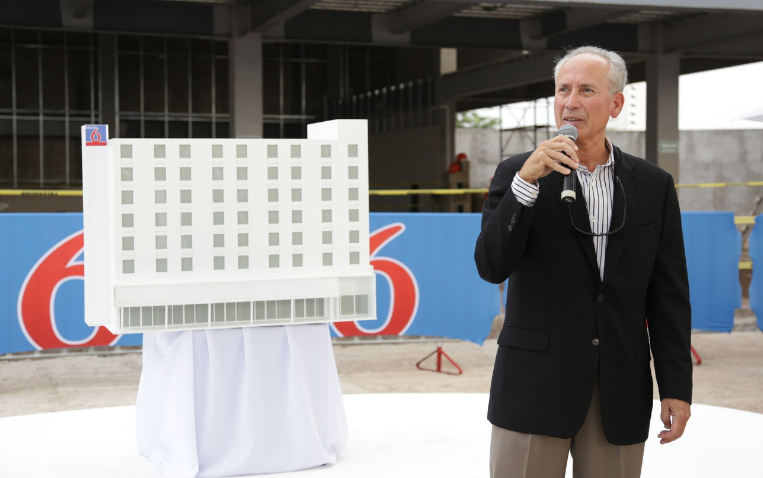 Jim Amorosia, President and CEO, G6 Hospitality during the ground breaking ceremony of the brand's second Estudio 6 located in Puerto Vallarta, Jalisco Mexico. (PRNewsFoto/G6 Hospitality)