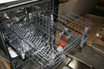 Today's higher-end dishwashers come with stainless interiors and extra racks for silverware.