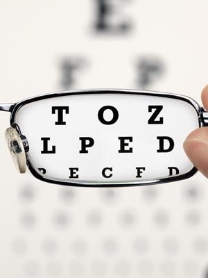 Eye chart glasses