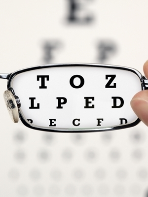 Large eye chart glasses