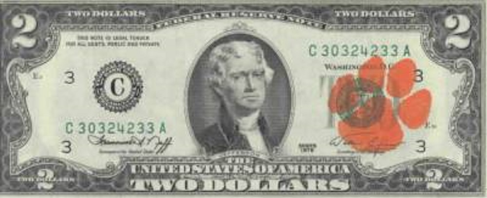Clemson's $2 bill tradition dates back to 1977.