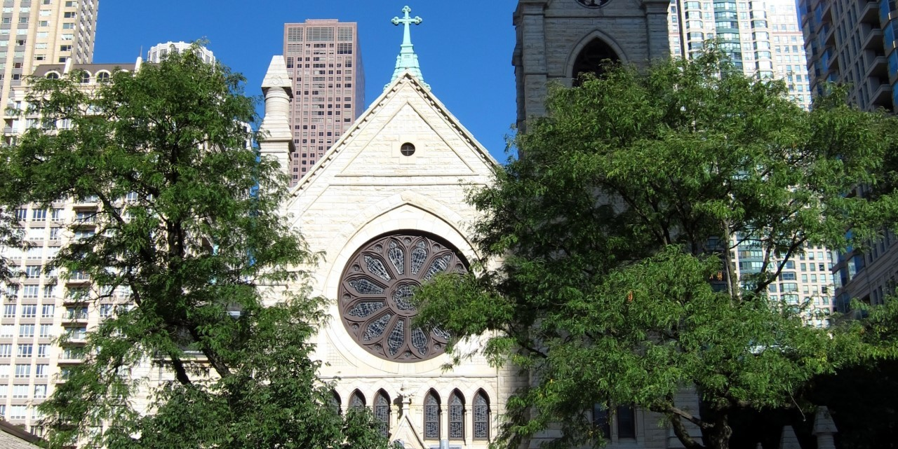 Holy name cathedral exterior crop