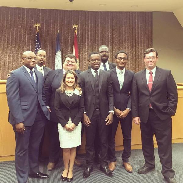 Truman Bodden Law School students at the American and Caribbean Law Initiative clinic in Fort Lauderdale earlier this month.