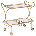 Bar carts are both aesthetically interesting and functional beyond serving cocktails.