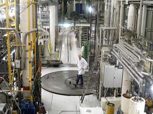 Inside the Halden Research Reactor.