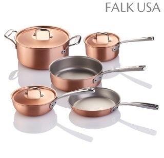 Eight-Piece Falk Copper Signature Line Chef's Set