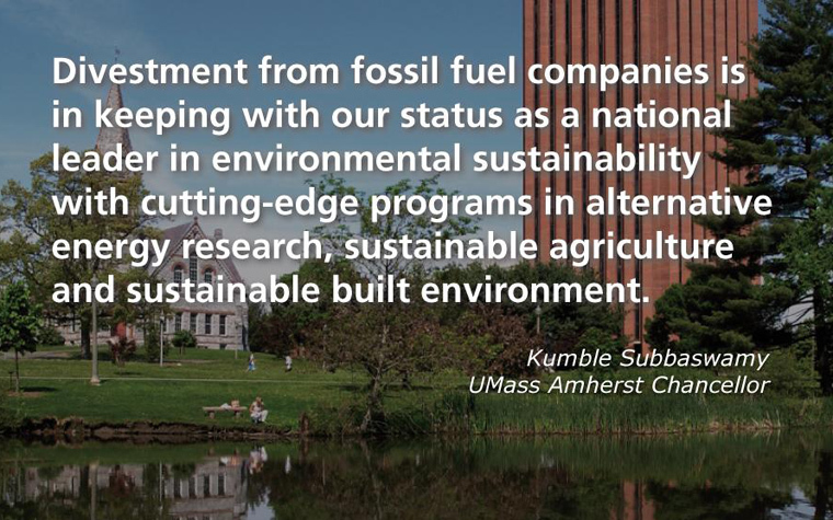 UMass would be the first public university to divest from fossil fuel companies.