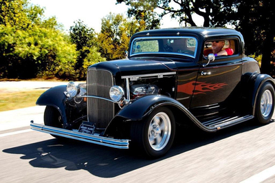 The Austin Donut Gang is an informal group of enthusiasts dedicated to building and restoring old street rods like this 1932 Ford owned by Paul Brault.
