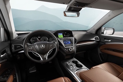 The interior of the MDX is a modern blend of technology and luxury.