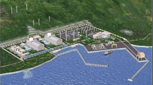 An artist's rendering of the planned nuclear plant in Vietnam's Ninh Thuan province.