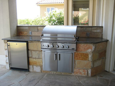 Remember utility access when considering where to put your outdoor kitchen.