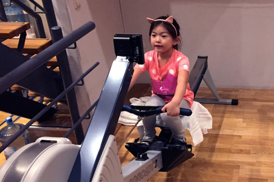 If space allows, home-gym equipment can be fun for the whole family.