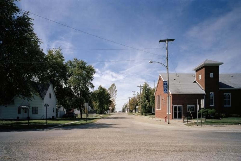 Main street in Wapella, a city where residents are projected to experience a $268,398 tax increase.