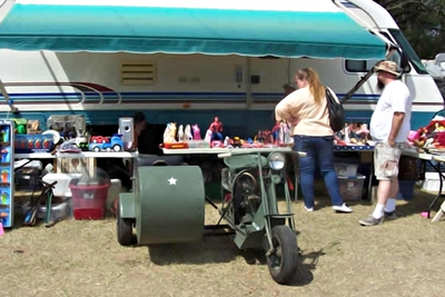There will be more than 1,000 vendors at the swap meet in New Braunfels.