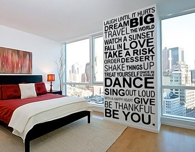 Wall decals are a fast way to express individuality in the home.