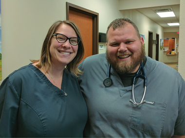 Dr. Mike Oller and his wife, Dr. Beth Oller, practice medicine together.