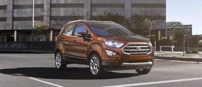 "The Ford EcoSport features an ""auto start and stop."""