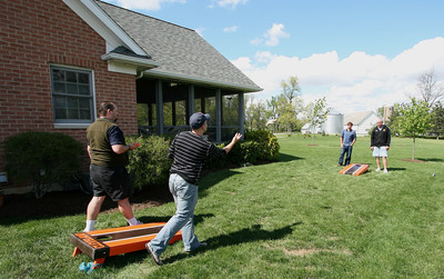 Corn hole is very popular and can be fun for the whole family.