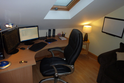 A comfortable home office can be built into many available spaces.