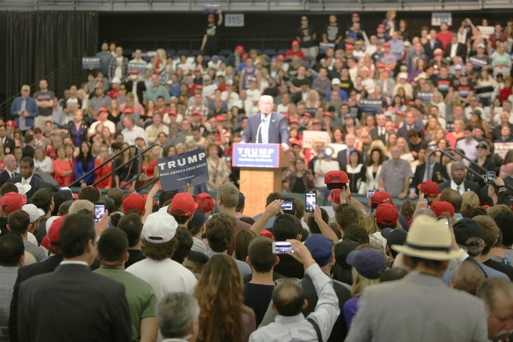 A Donald Trump rally during the presidential campaign