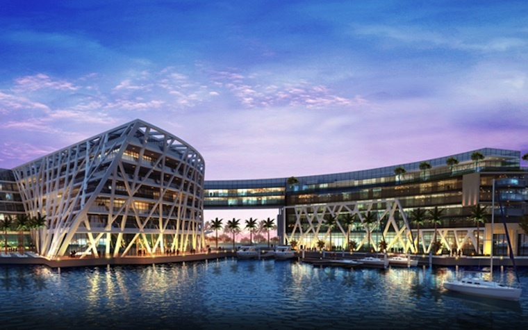 Al Shafar General Contracting finishes structural work on Abu Dhabi's Marina Bloom development.