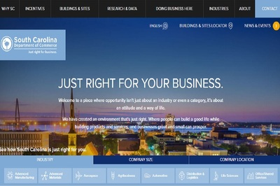 To visit S.C. Commerce's new website, visit www.sccommerce.com.