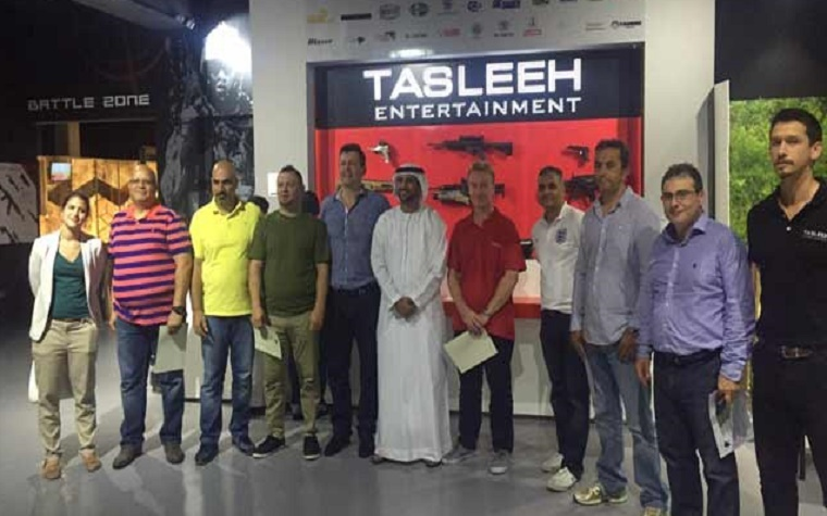 Tasleeh Entertainment Systems Club at Yas Mall, Abu Dhabi hosted team members from Hafele Company as part of a team building program.
