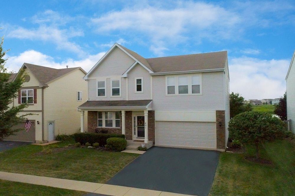 This three-bedroom home, 431 Niagara Drive in Volo, has a property tax bill of $8,827.