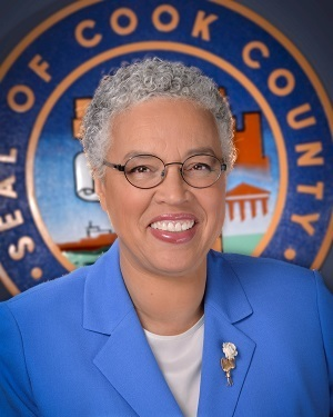 Large cook county board toni preckwinkle president