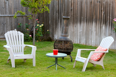 Outdoor furniture makes a space more inviting as well as useful.