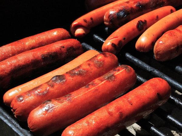 Large hotdogs