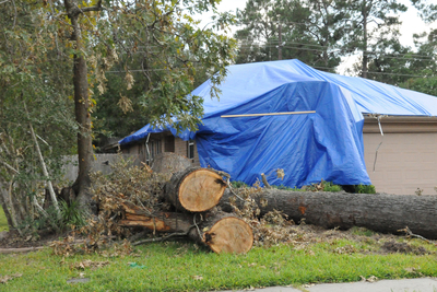 In an emergency situation, having a tarp handy can save a lot of money in potential water damages.