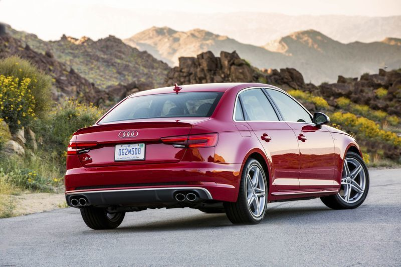 The Audi S4 has a 354-horsepower V6 engine and all-wheel drive.