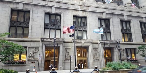 Large chicago city hall