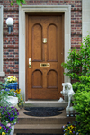Regular care of a front door can ensure it lasts a long time.