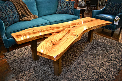 Natural elements can be harvested to create truly unique furniture with an artistic flair.
